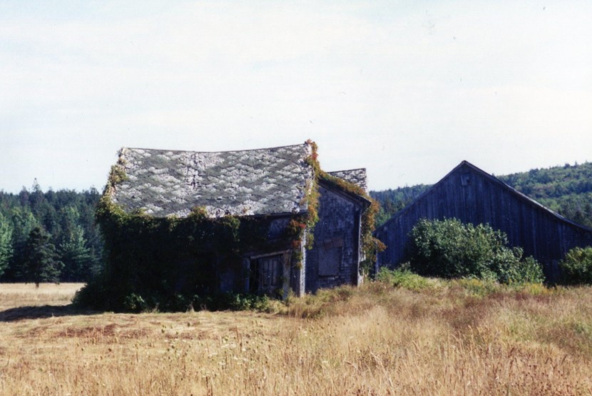 Old house on the Mt. Hanley road